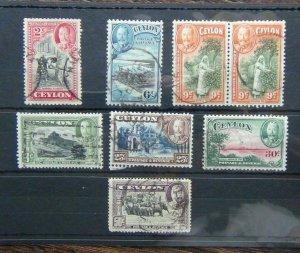 Ceylon 1935 - 1936 values to 50c Used