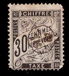 France Scott J19 used 1892 postage due