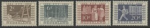 Netherlands 336 to 339 complete set - mnh 1852 PTT 1952