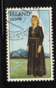 Iceland Sc 379 1965 100 kr Lady in national Costume stamp used