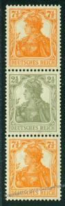 Germany Empire Germania Mi S14a MNH Expertized Zusammendruck ZSD Se-Tenant 75002
