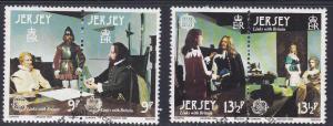 Jersey # 229-230, Europa - Wax Figures, Used Set