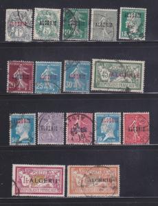 Algeria 1, 6-7, 9-10, 12-13, 16, 18, 20, 22-26, 28, 30 U Overprints