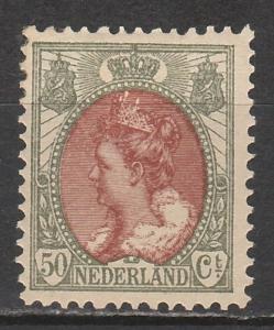 NETHERLANDS 1899 QUEEN 50C