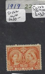 CANADA (P2703B) 1C QV JUBILEE SG 122   MNH