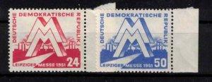 East Germany (DDR) - SGE39-E40 mint, Leipzig spring fair - CV £46 ($58.80)
