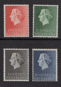 Netherlands  #361-364  1954  MNH Juliana high values