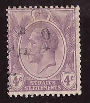 Straits Settlements 4c KGV Scott 184 used 1925 stamp