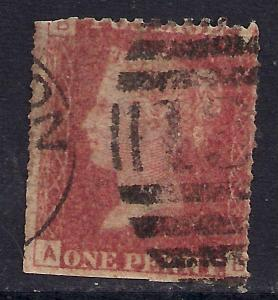 GB 1858 - 79 QV 1d Penny Red Plate 195 ( A & B ).(J472 )
