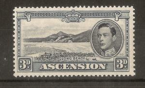 Ascension 1940 3d SG42a P13.5 Mint Cat£20