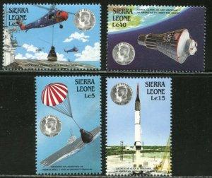 SIERRA LEONE Sc#1000-1004 1988 Kennedy-Space Achievements Set & SS OG MNH