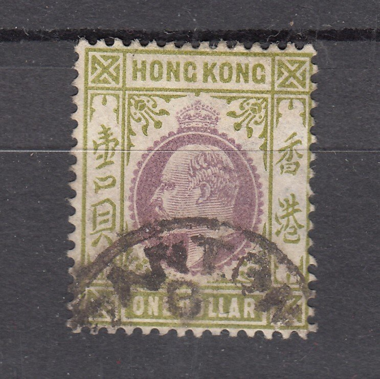 J28270 1903 hong kong used #87 king  wmk 2