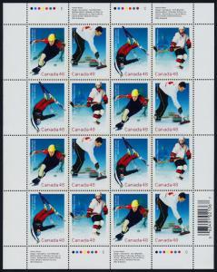 Canada 1939a sheet MNH Winter Olympics, Skating, Curing, Ice Hockey, Skiing