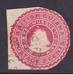 British Guiana 2c Postal Stationary Cutout VGC