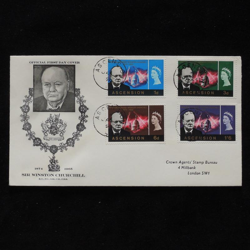 ZS-AB456 ASCENSION ISLAND - Churchill, 1966 Fdc, Death Of Sir W. Churchill Cover