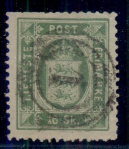 DENMARK #O3, 16sk Official,  used, perf fault but scarce, Scott $350.00