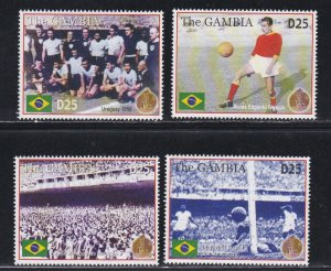 Gambia # 2938 & 2939, World Cup Soccer 75th Anniversary, NH, 1/2 Cat.