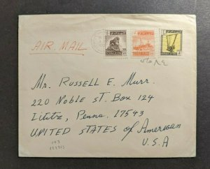 1963 Iraq Airmail Cover to Pennsylvania USA