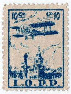 (I.B) Poland Cinderella : LOPP Private Air Mail 10c