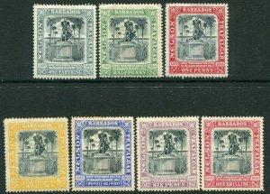 BARBADOS-1906 Nelson Centenary Set Sg 145-151 AVERAGE MOUNTED MINT V33814