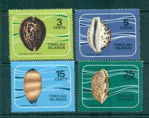Tokelau 1974 Shells set Mint Never Hinged