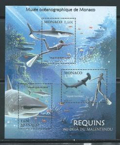 Monaco 2762 Sharks m/s MNH
