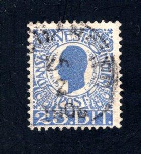 Danish West Indies #34,  F/VF,  Used,   CV $10.50 ....1630032