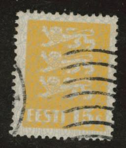 Estonia Scott 97 used from 1928-1940 Arms set