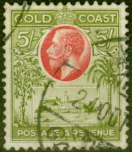 Gold Coast 1928 5s Carmine & Sage-Green SG112 Fine Used