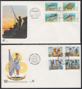 South Africa Ciskei stamp Fish + scouts 2 sets on 2 FDC Cover 1985 WS142794