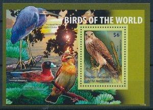 [108775] Gren. Carriacou & Petite Martinique 2011 Birds Falcon Merlin Sheet MNH