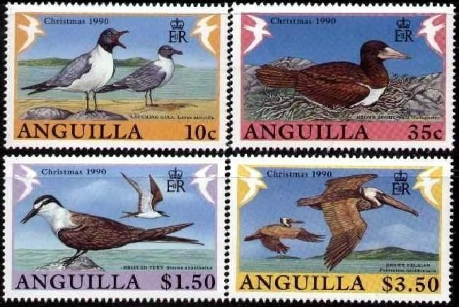 Anguilla MNH 825-8 Birds Christmas 1990