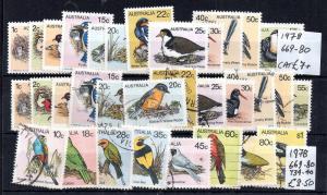 Australie Oiseaux 1978 excellent état MNH & VFU collection WS5995