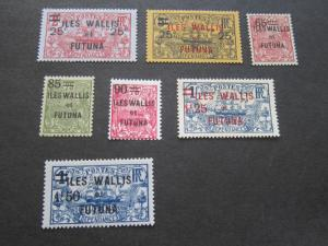 French Wallis and Futuna Islands 1924 Sc 33-39 MH