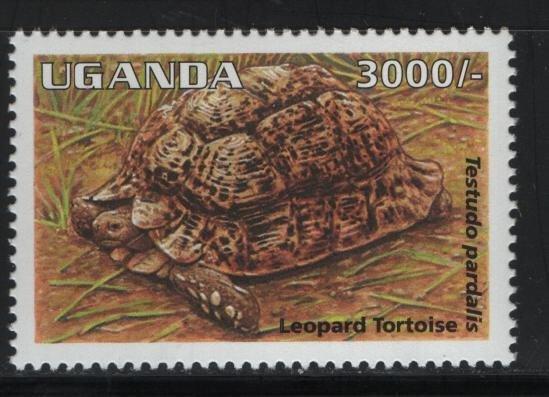UGANDA  1340, MNH, 1995 Leopard tortoise