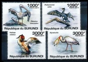 Burundi MNH Set Of Water Birds 2011 SCV 13.50