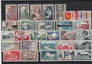 france  1952 - 54 mounted mint stamps cat £100+ ref r11750