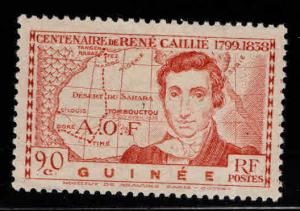 FRENCH GUINEA Scott 161 MH* Map stamp