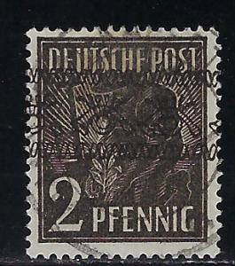 Germany AM Post Scott # 600, used, variation inverted o/p