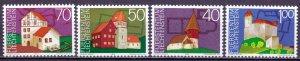 Liechtenstein. 1975. 630-33. Building. MNH.