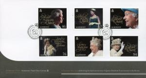 Alderney 2018 FDC Queen Elizabeth II Coronation 65th Ann 6v Cover Royalty Stamps