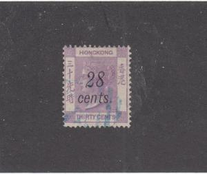 HONG KONG # 30 VF-LIGHT USED CAT VALUE $62.50