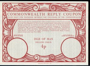 ISLE OF MAN Type XX 4p - Commonwealth - International Reply Coupon IRC