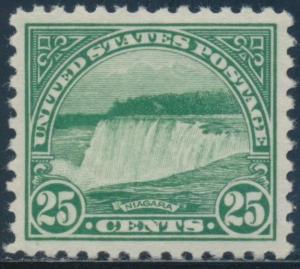 #568 25¢ 1922 NIAGARA XF-SUPERB MINT OG NH WITH PSE GRADED 95 CERT BU2680