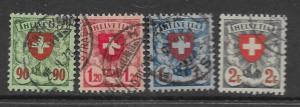 Switzerland 200-3 used sets cpl f-vf, see desc. 2019 CV $31.00