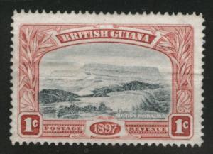 British Guiana Scott 152 Mint No Gum horizontal crease 1897 stamp