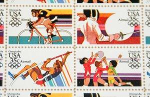 1983 sheet, Summer Olympics  Sc# C109-12