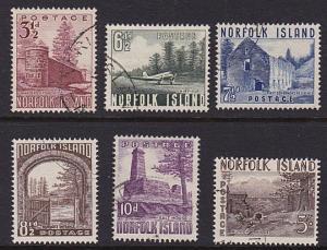 NORFOLK IS 1953 Definitive set fine used...................................68749