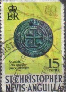 ST CHRISTOPHER, ST. KITTS-NEVIS, 1970, used 15c