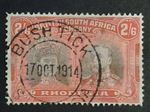 British South Africa stamp, 1910, GB Rhodesia SG#161-156a 2/6sh shilling